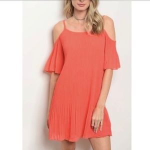 Do+Be Cold Shoulder Pleated Dress